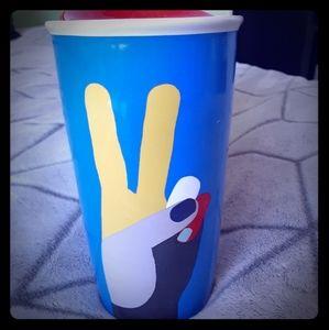 Starbucks Peace Ceramic Travel Mug